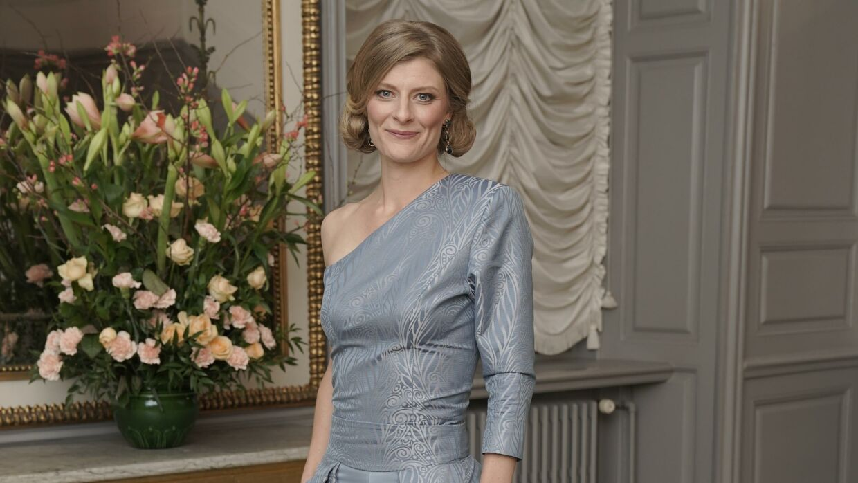 Ane Halsboe-Jørgensen, uddannelses-forskningsminister, bar en kjole med bukser indenunder.