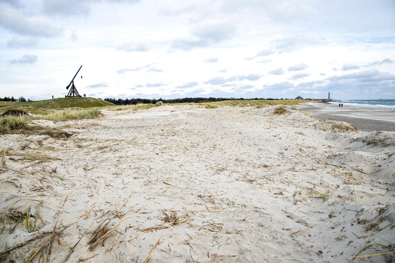 Det fredede klitområde, som er gravet væk og udjævnet, er omkring 3.500 kvadratmeter.