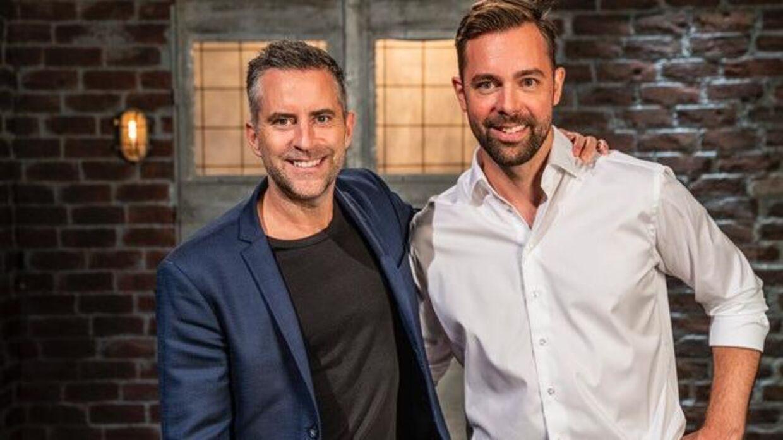 Det blev Jacob Risgaard (venstre), der fik et ja fra iværksætteren Joachim Latocha (højre) i torsdagens afsnit af 'Løvens Hule'.