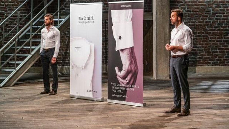 'Barons' er en virksomhed, som ifølge Joachim Latocha (højre) tilbyder 'et super simpelt skjortekoncept til den travle forretningsmand'.