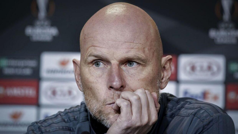 Cheftræner Ståle Solbakken under FCK pressemøde i Telia Parken, onsdag den 11. december 2019.
