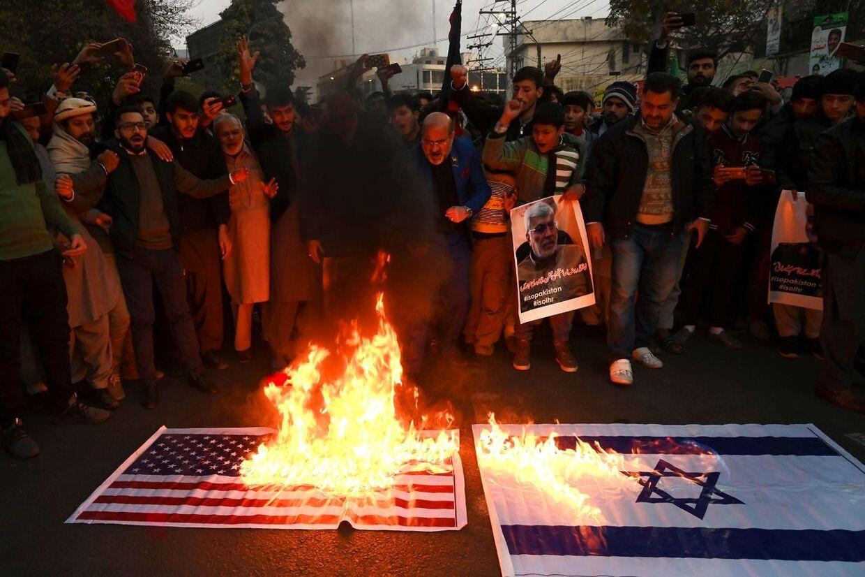 Anti-amerikansk demonstration i Iran.