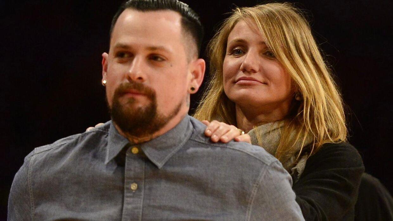 Cameron Diaz og ægtemanden Benji Maddien.