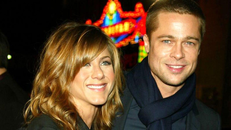 Arkivfoto af Jennifer Aniston og Brad Pitt.