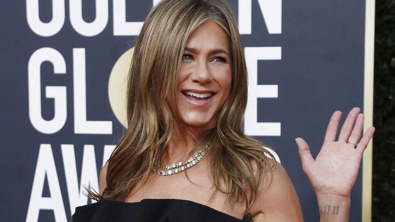 Jennifer Aniston på den røde løber ved Golden Globes.