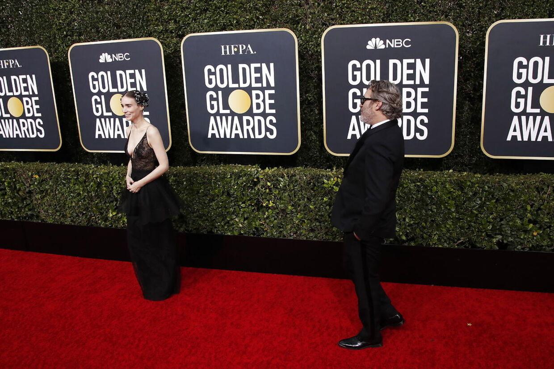 Joaquin Phoenix og Rooney Mara på den røde løber.