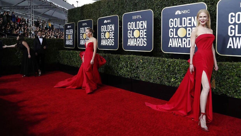 Scarlett Johansson and Nicole Kidman på den røde løber.