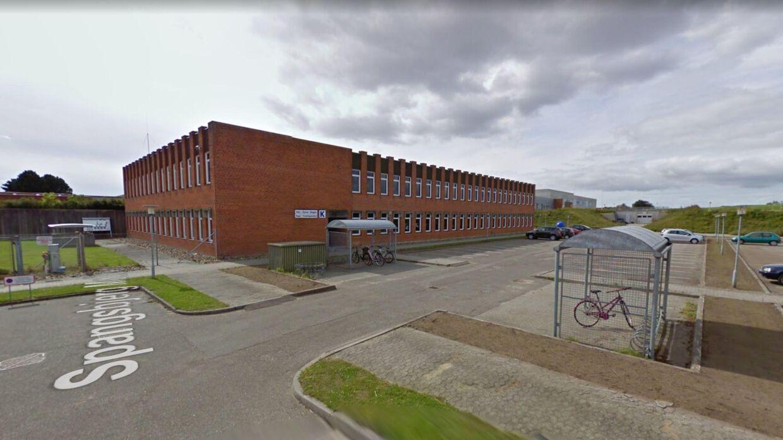 En del af den tekniske skole hos Rybners i Esbjerg.