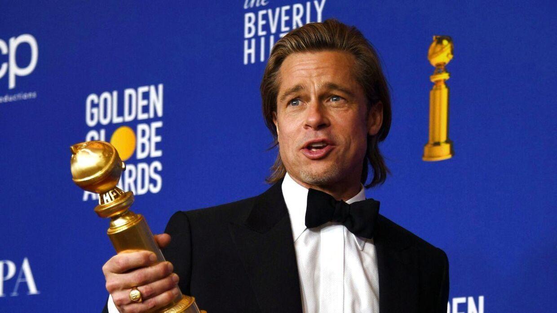 Brad Pitt vandt en pris ved 'Golden Globe' natten til mandag.