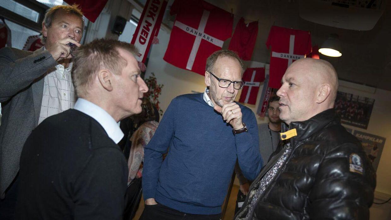 TV 2 holder pressemøde på deres nye programserie Kampklar tirsdag den 7. januar 2019. Serien samler et hold af gamle landsholsspillere som Bjørn Kristensen, Martin Johansen Ole Kjær og Frank Pingel , og giver dem tre måneder til at blive kampklare.