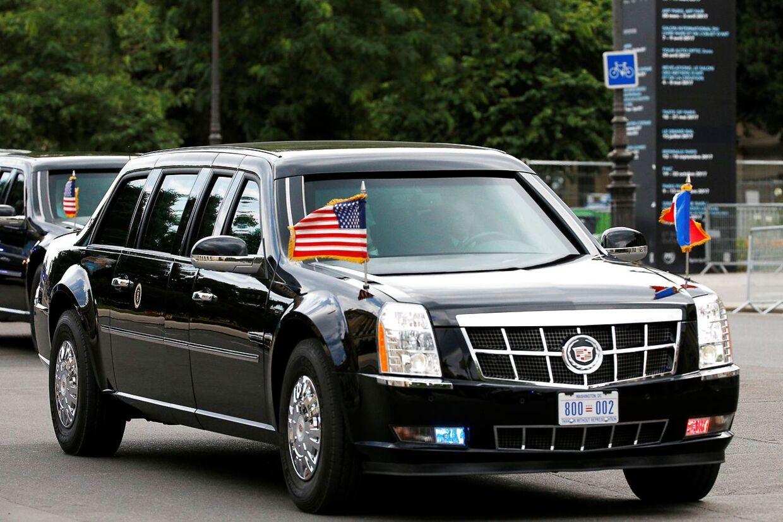 Præsident Donald Trumps skudsikre bil går under navnet 'The Beast' - bæstet.