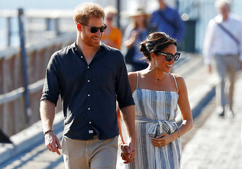 Harry og Meghan fotograferet under deres besøg i Australien sidste år.