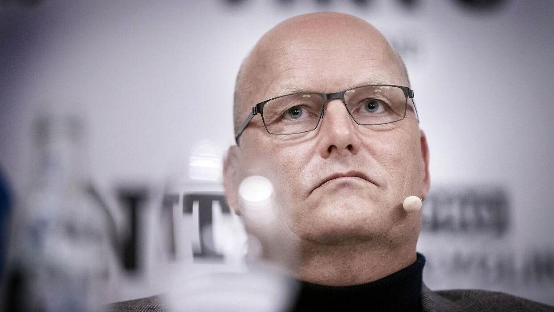 Bjarne Riis er tilbage i spidsen for et cykelhold på øverste hylde. Her under onsdagens pressemøde på D'angleterre i København.