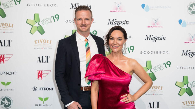 Mascha Vang sammen med sin kæreste, jægerpiloten Troels Krohn Deli