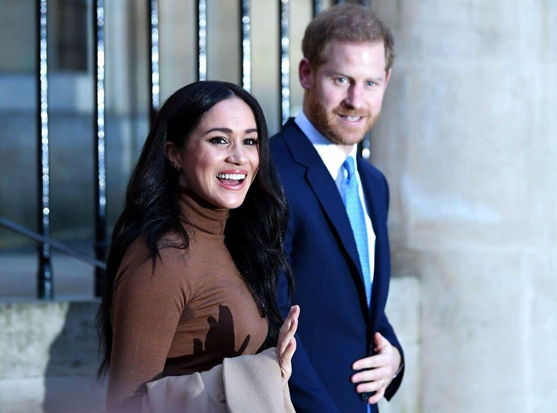 Meghan og Harry havde angiveligt ikke drøftet deres fremtidsplaner med Dronningen og prins Charles, før de meldte dem ud. (Arkivfoto)