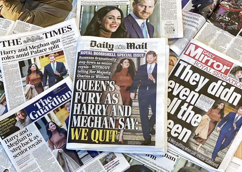 Harry og Meghans beslutning kom som et chok i Storbritannien.
