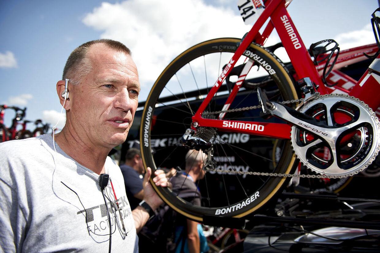 Kim Andersen er sportsdirektør for den danske verdensmester Mads Pedersen hos Trek-Segafredo.