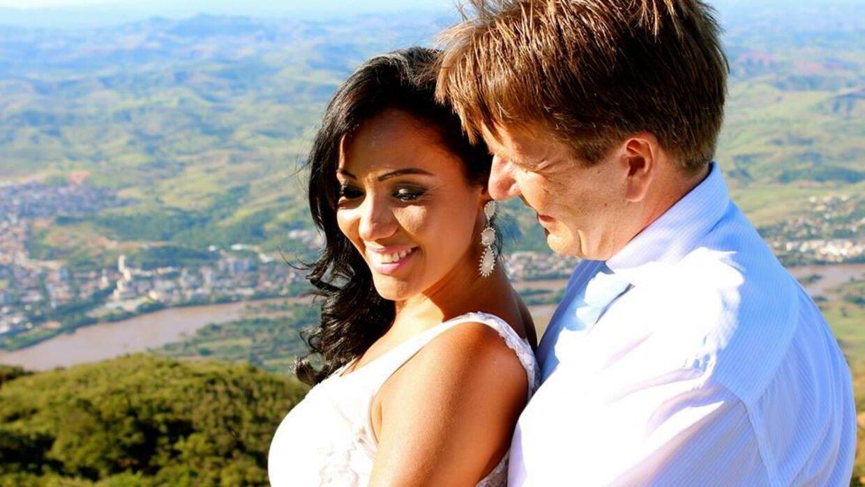 Erik Damgaard med Renata, som han giftede sig med efter bruddet med Anni Fønsby.