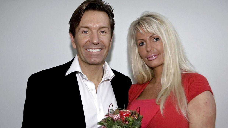 Anni Fønsby med sin daværende mand, Erik Damgaard.
