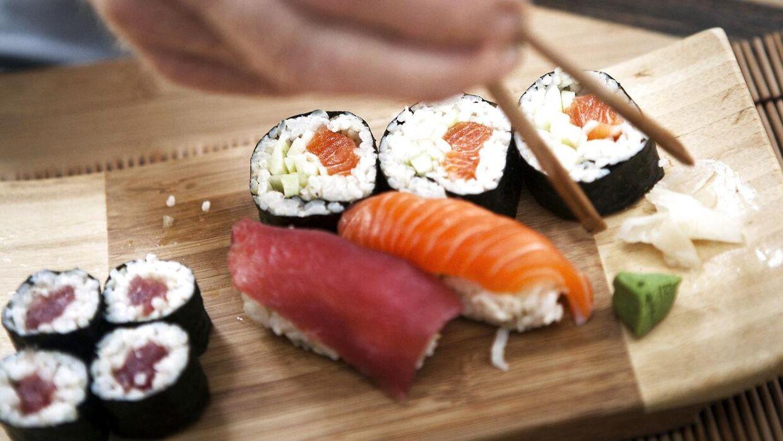Arkivfoto af sushi