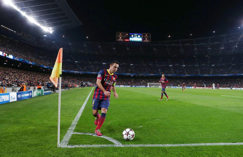 Xavi vandt fire Champions League-trofæer med FC Barcelona, hvor han også nåede at bære anførerbindet.