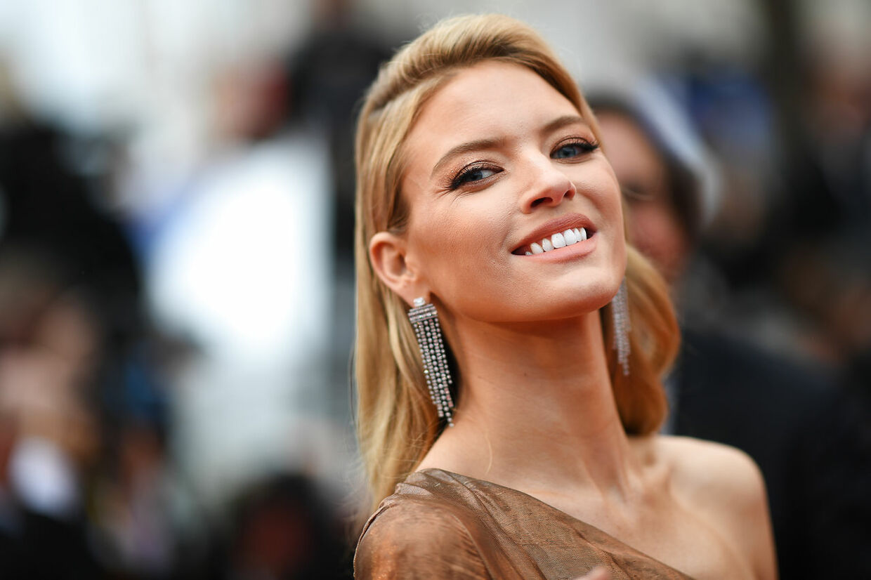 "US model Martha Hunt arrives for the screening of the film ""The Best Years of a Life (Les Plus Belles Annees D'Une Vie)"" at the 72nd edition of the Cannes Film Festival in Cannes, southern France, on May 18, 2019.  LOIC VENANCE / AFP"