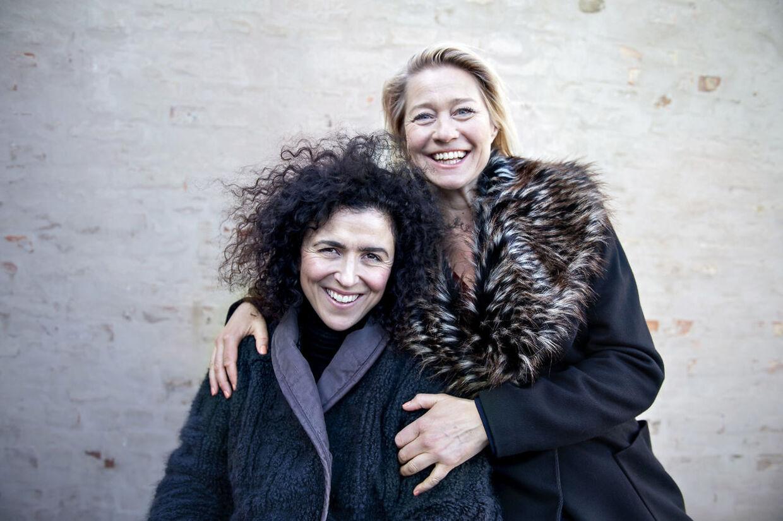'Dronningen'-instruktør May El-Touky og Trine Dyrholm.