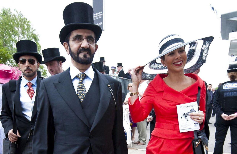Prinsesse Haya bint Al-Hussein og hendes mand, sheik Mohammed bin Rashid al-Maktoum, i 2013.