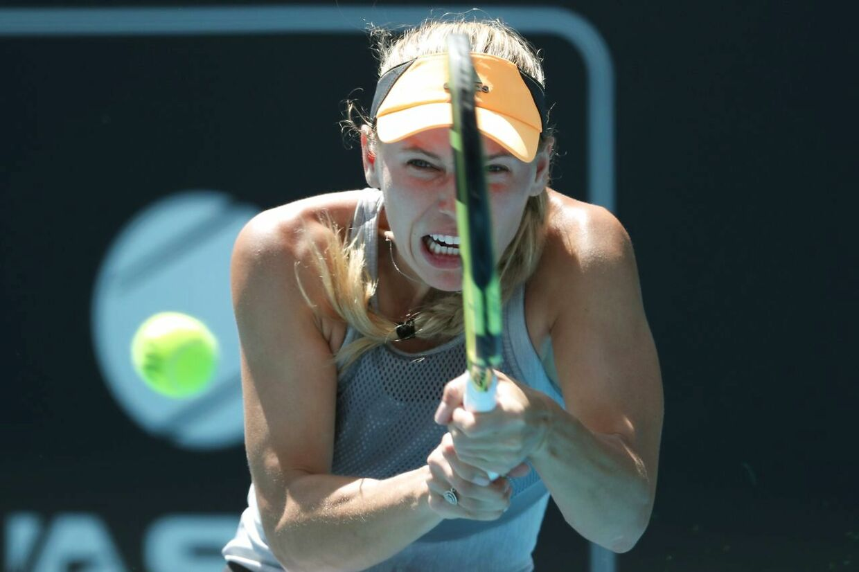 Caroline Wozniacki nåede semifinalen ved WTA-turneringen ASB Classic i Auckland.