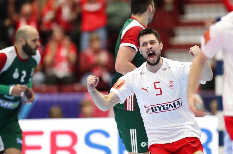 Magnus Bramming var forrygende spillende mod Ungarn.