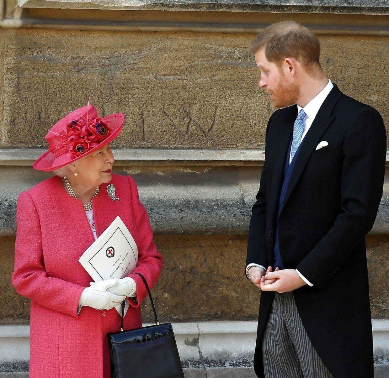 Prins Harry har et tæt forhold til sin farmor, dronning Elizabeth. (Arkivfoto)