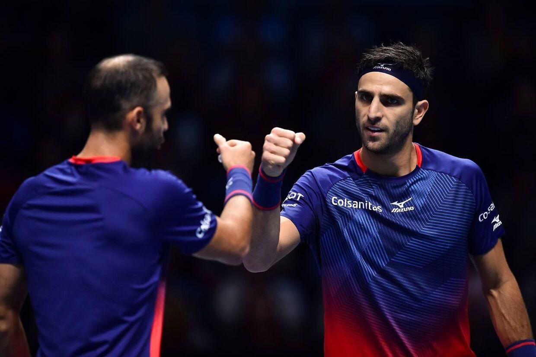 Den stærke colombianske tennisduo Juan Sebastian Cabal og Robert Farah (th.).