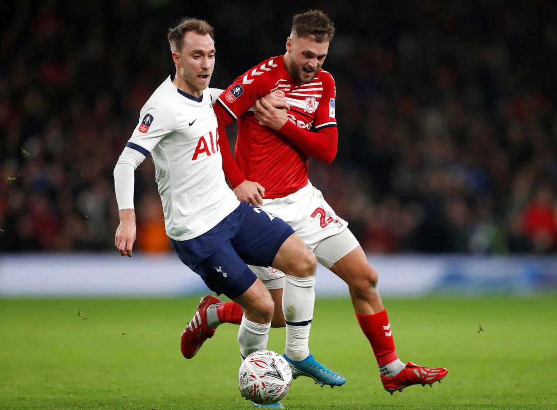 Christian Eriksen spillede måske sin sidste kamp for Tottenham, da London-klubben mødte Middlesbrough tirsdag aften.