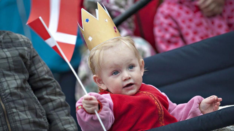 Børn i Danmark har gode vilkår, lyder det i undersøgelsen. Her et arkivbillede fra Aalborg, hvor kronprinsessen var på besøg i en børnehave.