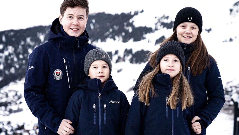 Kronprinsparrets børn deres Kongelige Højheder prins Christian, prinsesse Isabella, prins Vincent og prinsesse Josephine.