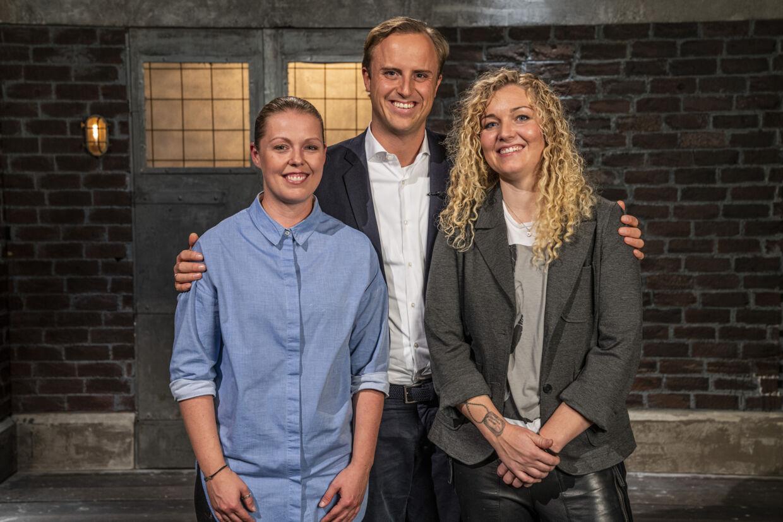 Lisbeth Grove Mikkelsen, hendes kæreste, Stine, og Christian Arnstedt.