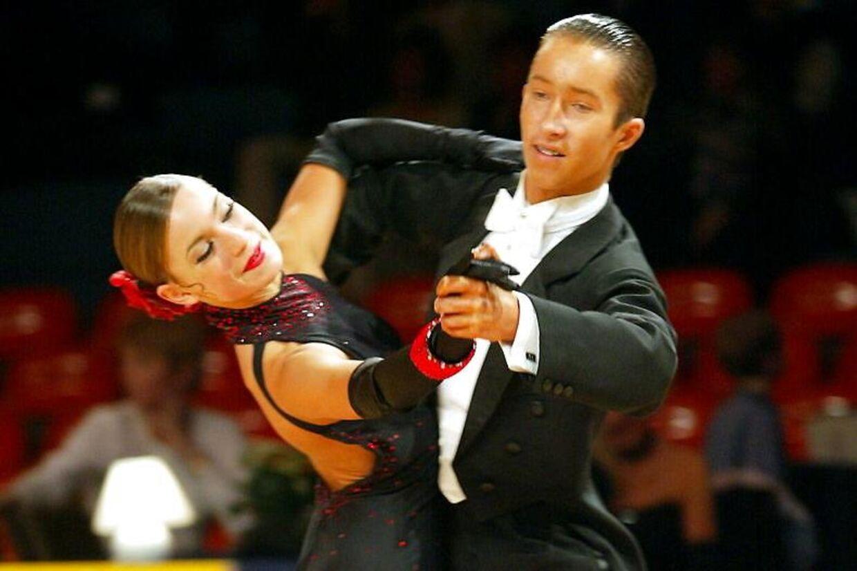 Selv mens hun var konkurrencedanser, lykkedes det Claudia Rex at holde sin OCD skjult. Her ses hun som 16-årig med sin daværende partner Damian Czarnecki.