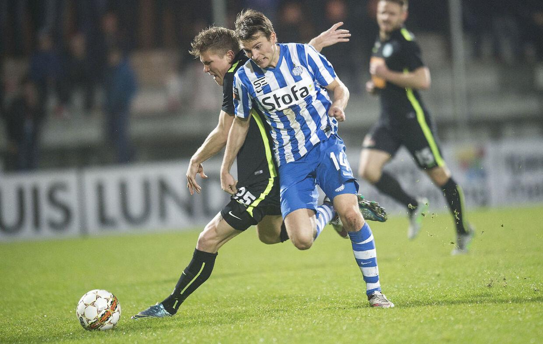 Jesper Lauridsen (th.) har spillet i Esbjerg siden 2016.