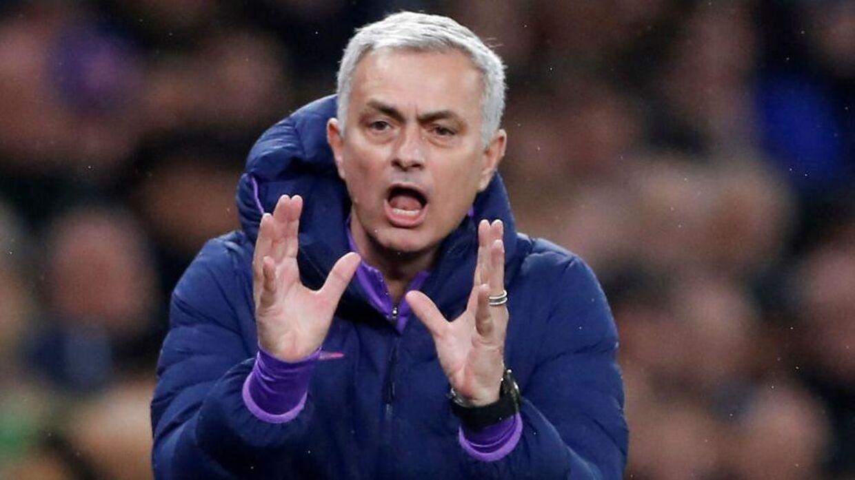 Jose Mourinho reagerede kontakt på Antonio Contes udtalelse.