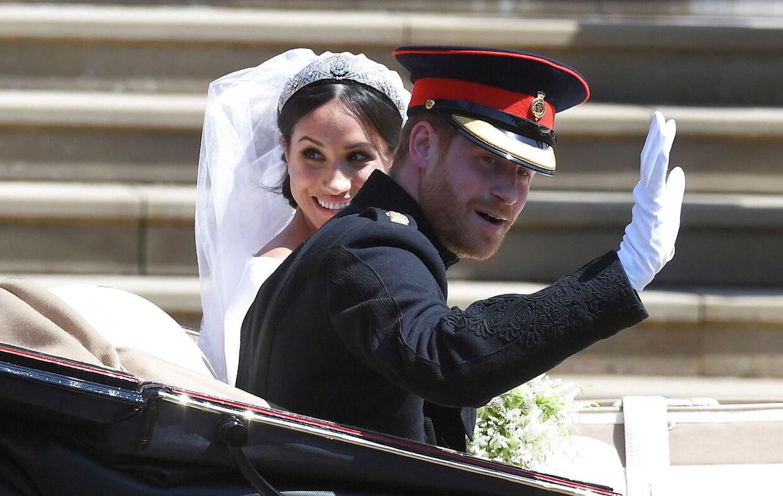 Det var en festdag i England, da Harry og Meghan blev gift i maj 2018.
