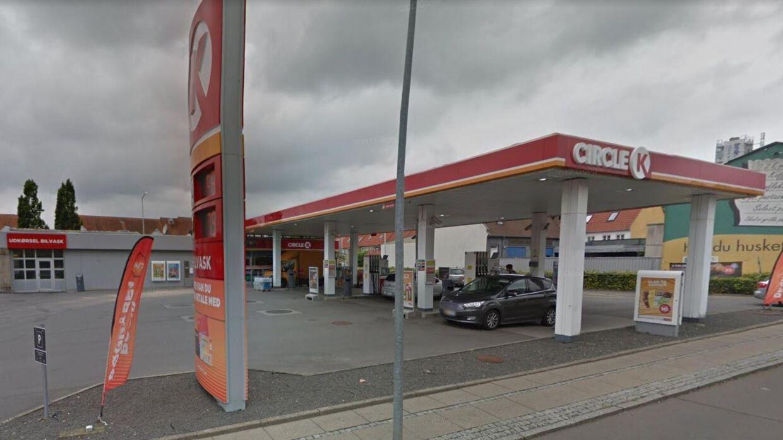 Overfaldet skete her på Circle K på Allégade i Horsens.