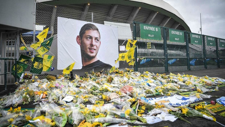 Emiliano Sala blev efter tragedien mindet mange steder.