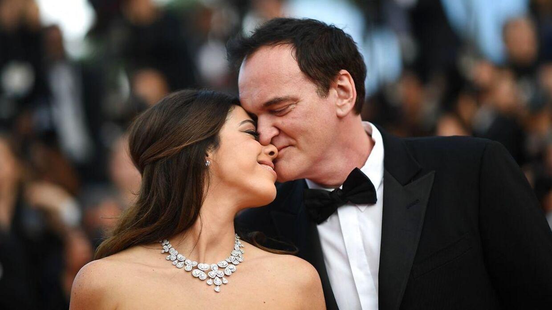 Quentin Tarantino med sin kone, Daniella Pick.