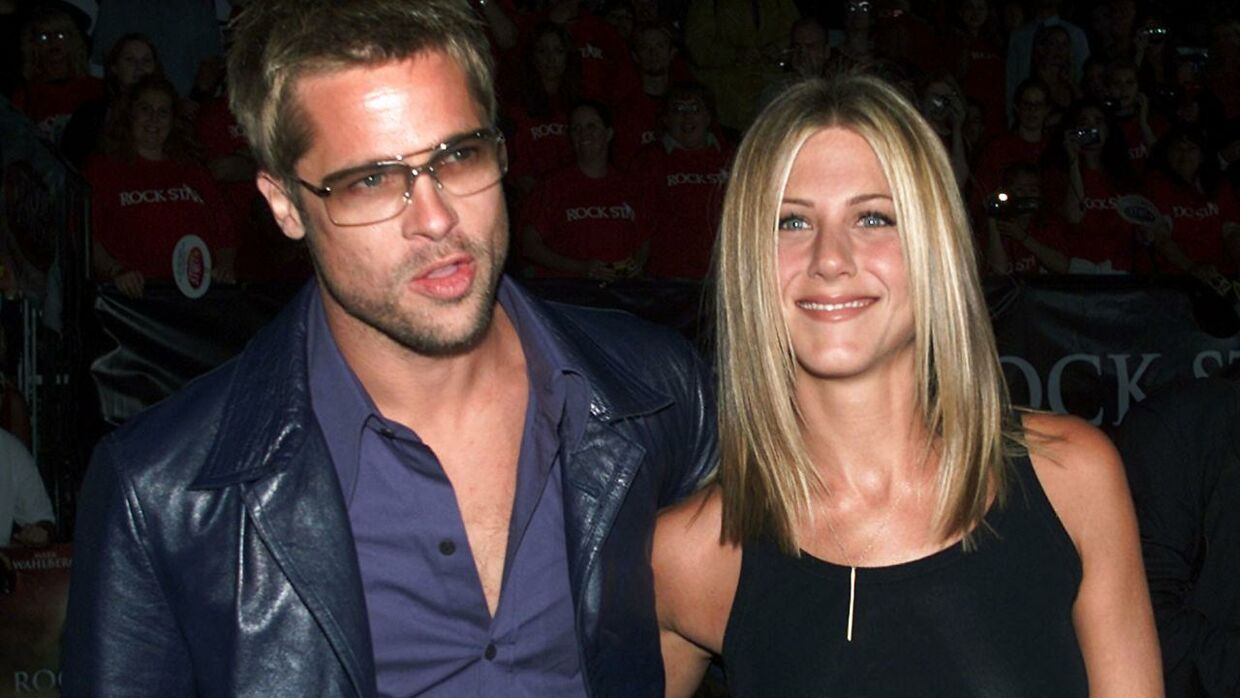 Brad Pitt og Jennifer Aniston i september 2001.