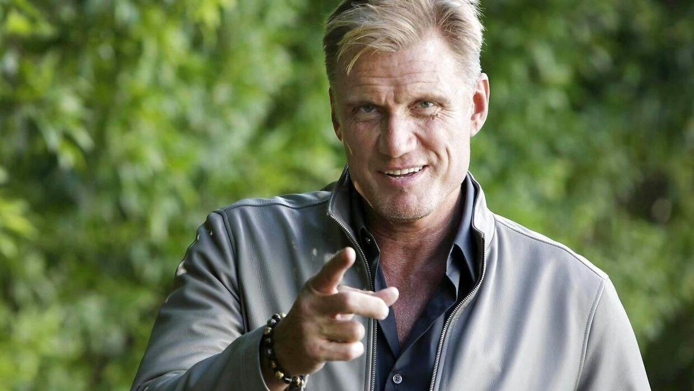 Svenske Dolph Lundgren slog igennem som skuespiller med rollen som russiske Ivan Drago i filmen 'Rocky IV' fra 1985.