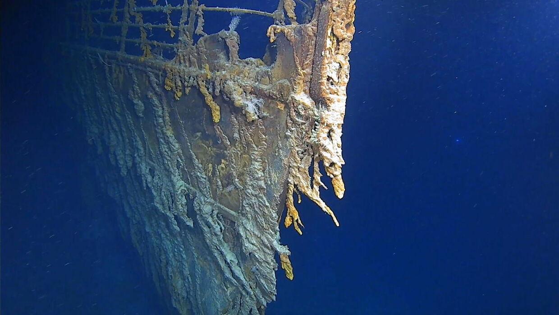 Sådan ser stævnen ud i dag på havets bund.