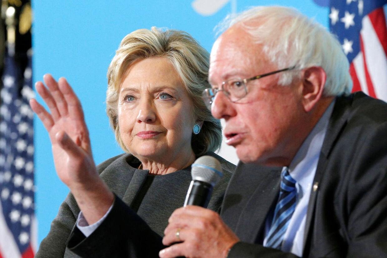 Hillary Clinton er ikke fan af den demokratiske præsidentkandidat Bernie Sanders.