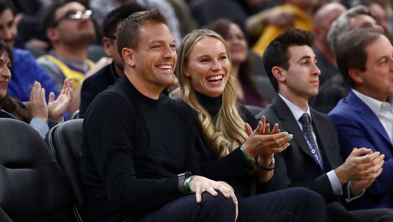 Caroline Wozniacki sammen med sin amerikanske mand David Lee.