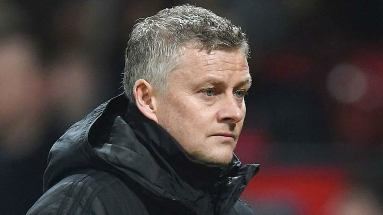 Manchester United's Norwegian manager Ole Gunnar Solskjaer leaves the pitch at half time during the English Premier League football match between Manchester United and Burnley at Old Trafford in Manchester, north west England, on January 22, 2020. (Photo by Paul ELLIS / AFP) / RESTRICTED TO EDITORIAL USE.No use with unauthorized audio, video, data, fixture lists, club/league logos or 'live' services. Online in-match use limited to 120 images. An additional 40 images may be used in extra time.No video emulation. Social media in-match use limited to 120 images. An additional 40 images may be used in extra time.No use in betting publications, games or single club/league/player publications. /