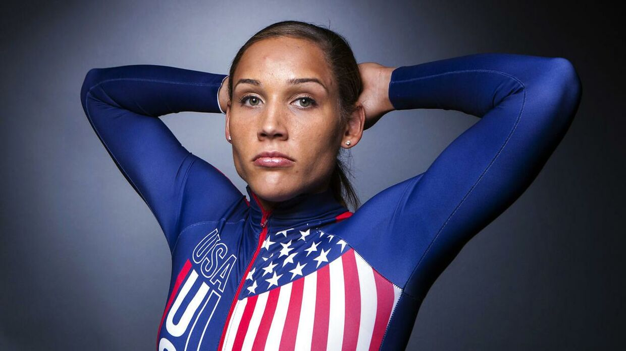 Lolo Jones i bobslædedragt.